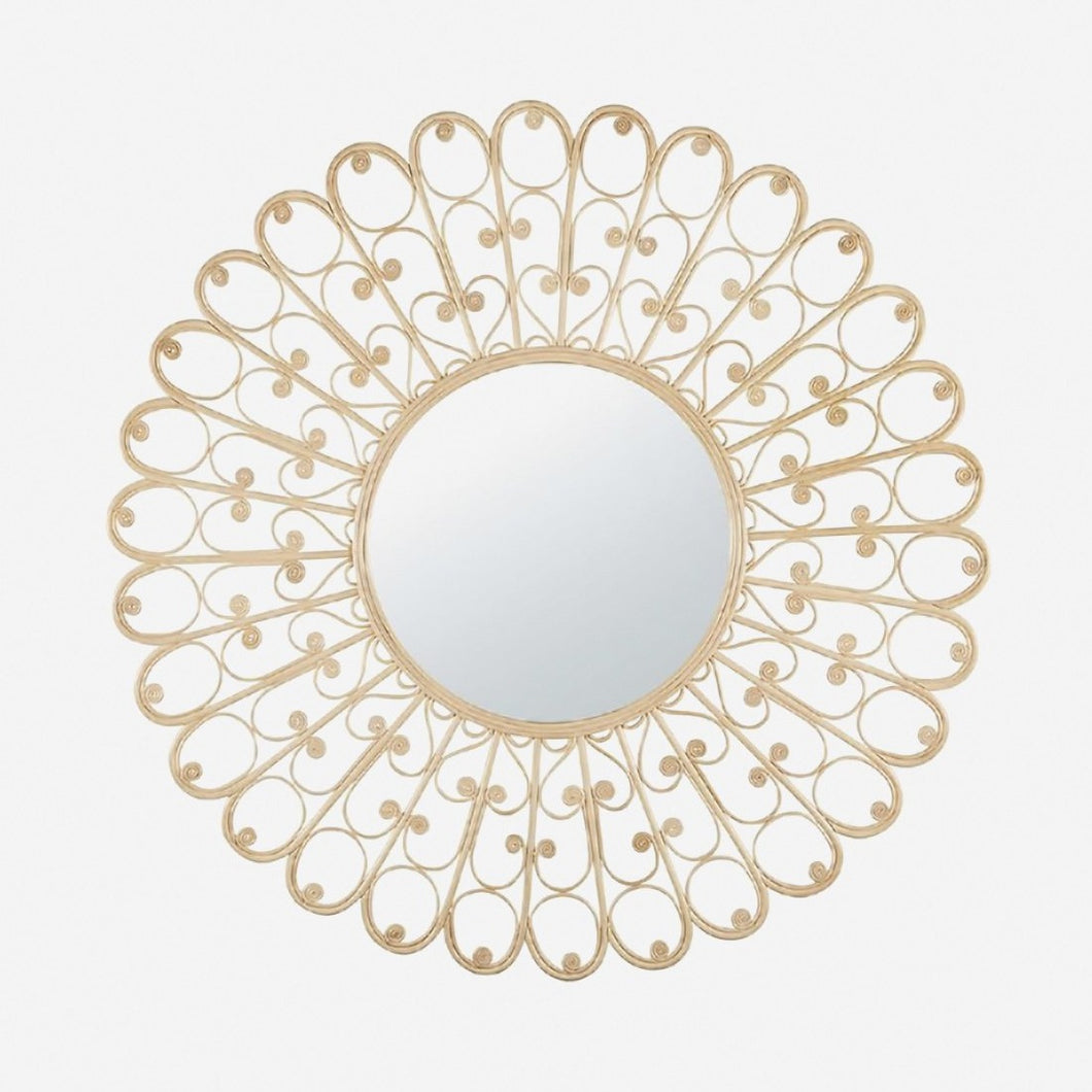 Peacock Natural Rattan Mirror (PRE-ORDER)