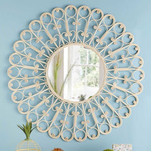 Load image into Gallery viewer, Peacock Natural Rattan Mirror (PRE-ORDER)