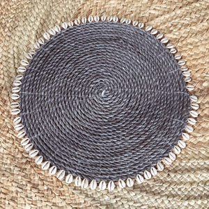 Cowrie Shell Natural Round Placemats