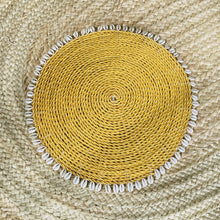 Load image into Gallery viewer, Cowrie Shell Natural Round Placemats