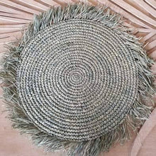 Load image into Gallery viewer, Amelie Natural Raffia Boho Placemats