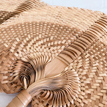 Load image into Gallery viewer, Daun Natural Boho Decorative Fan