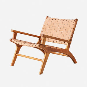 Bisma Leather Teak Loung Chair (PRE ORDER)