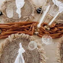 Load image into Gallery viewer, Savanna Natural Raffia Boho Placemats
