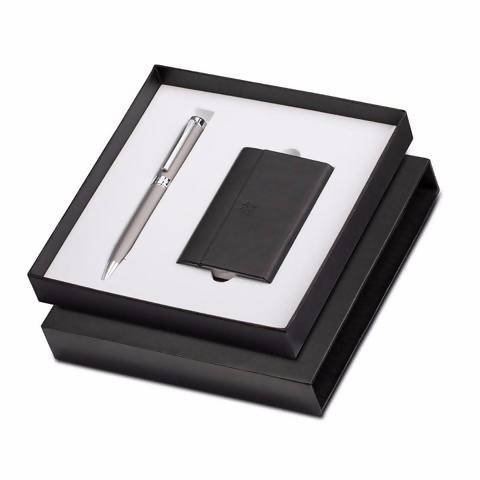 Promotional Gift Combo- Pen With Business Card Holder