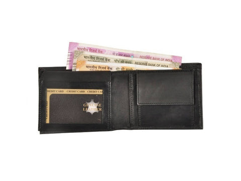 Classic Leather Wallet - Black