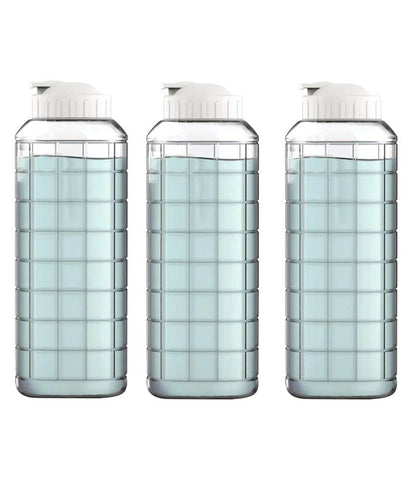 White 1500 ml Fridge Bottle Set of 3
