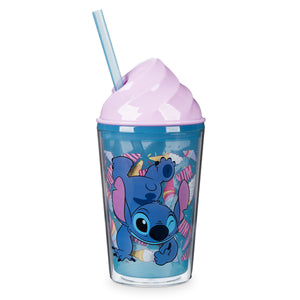 Stitch Ice Cream Dome Tumbler with Straw
