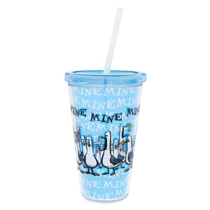 Finding Nemo Seagulls ''Mine Mine Mine Mine'' Tumbler with Straw