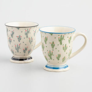 Cactus Mugs Set Of 2