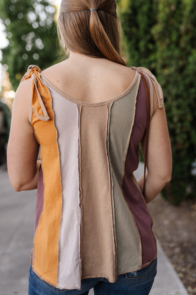 Painted Canyon Tied Shoulder Tank