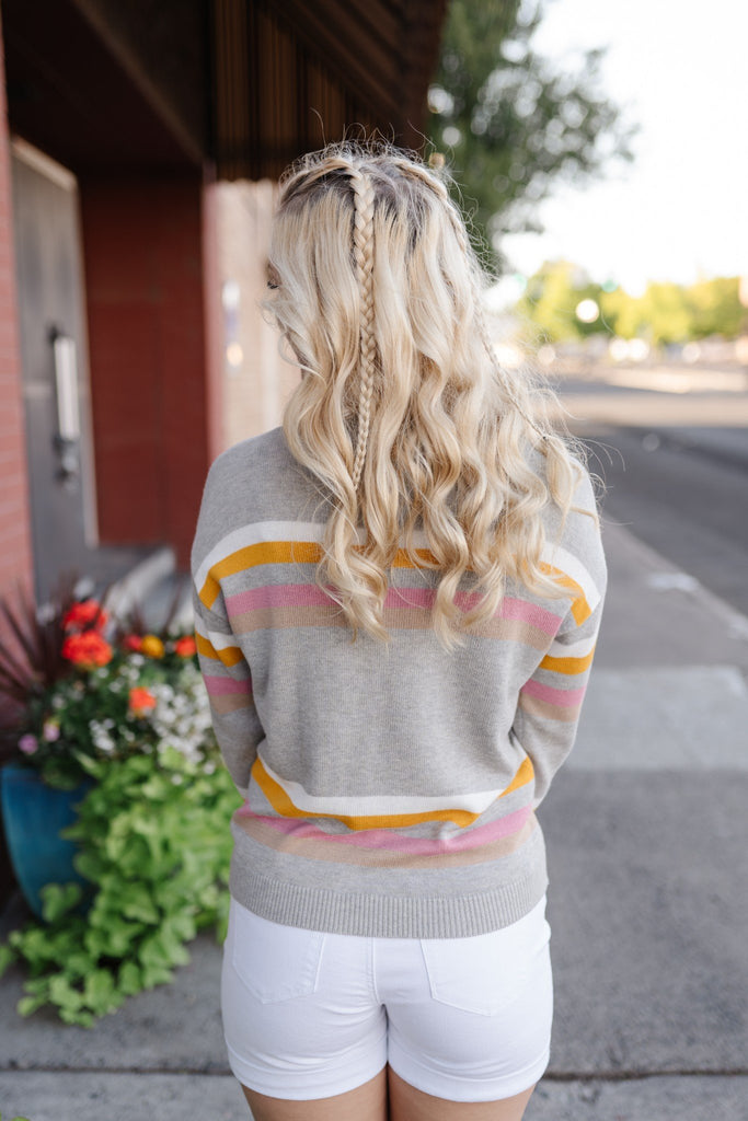 Sweet Treat Striped Sweater