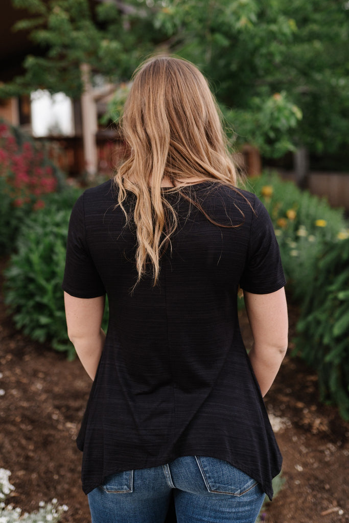 Little Black Knotted Tunic