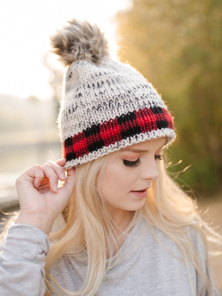 You Hat Me At Hello Heathered Buffalo Plaid