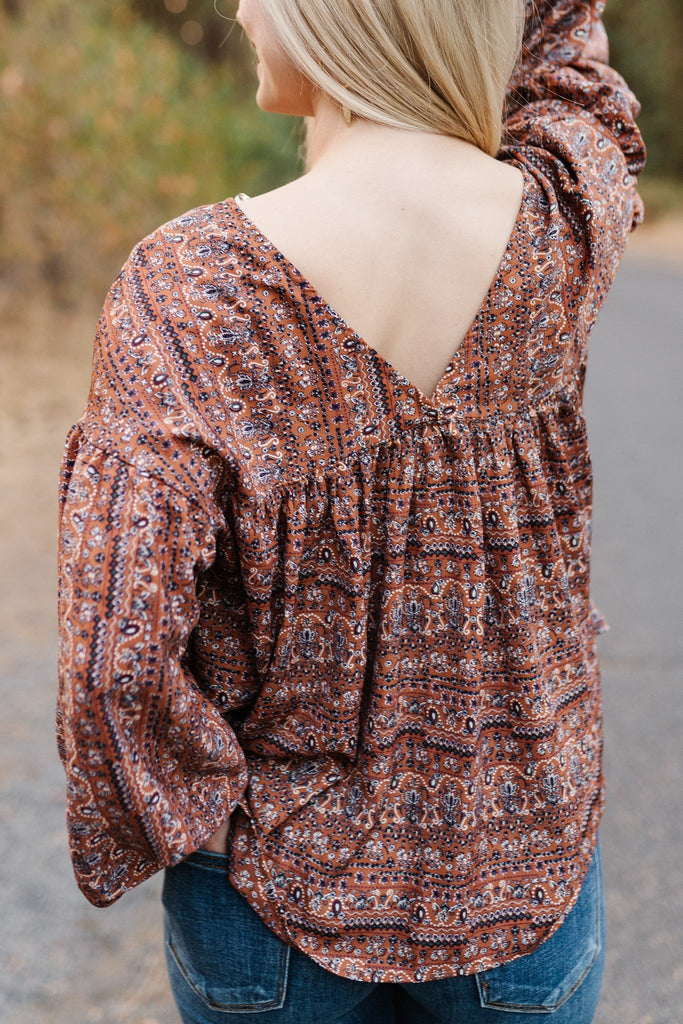 Woodland Fairytale Peasant Top