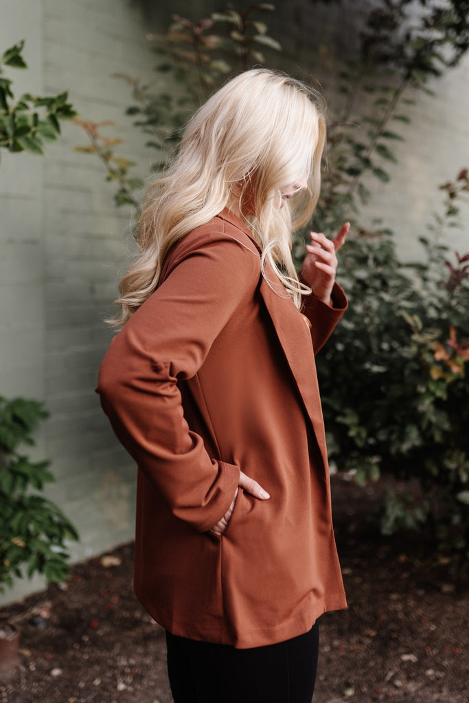 A Cut Above the Rest Blazer In Chestnut