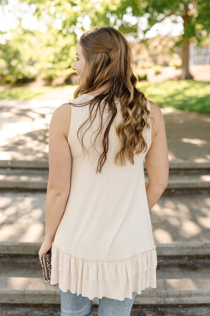 Champagne Nights Tunic Top