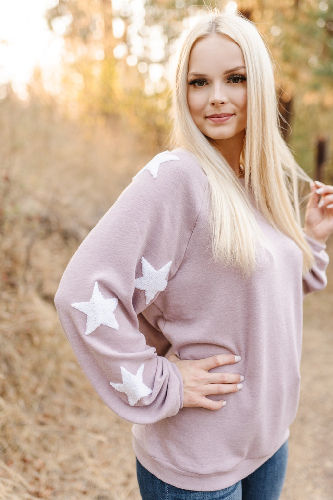 Oh My Stars Sweatshirt In Soft Rose