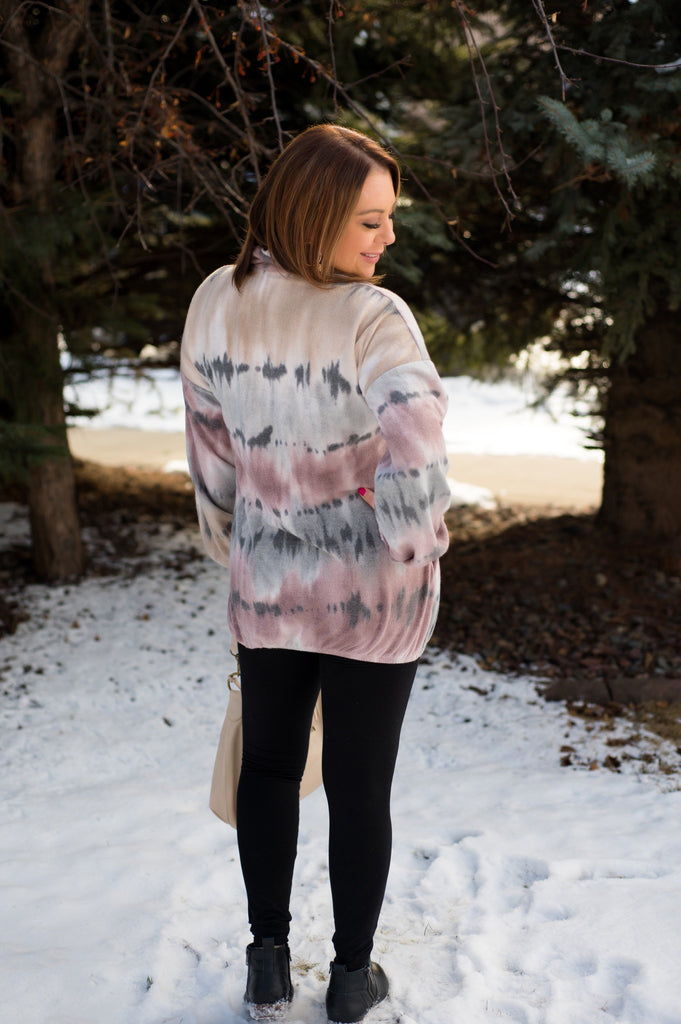 Mauve In The Right Direction Ombre' Pullover