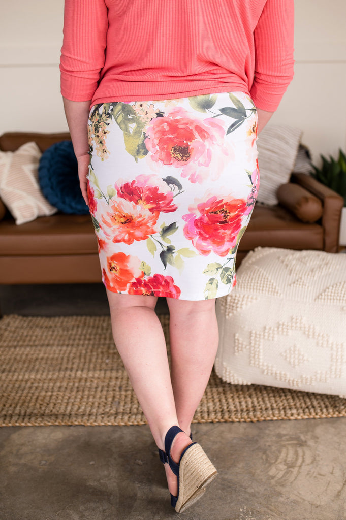 Poppy Fields Pencil Skirt