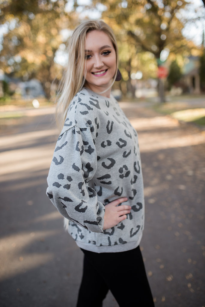 Just The Right Exposure Leopard Sweatshirt