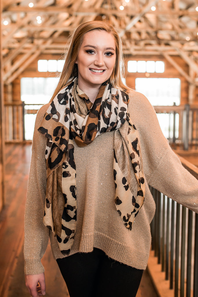 Wrap Me In Leopard Long Scarf