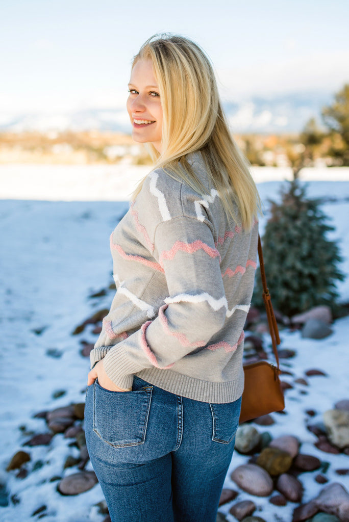 Return To Sender Sweater In Soft Gray