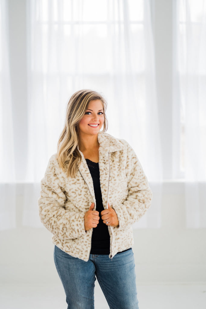 Safari With You Faux Fur Jacket