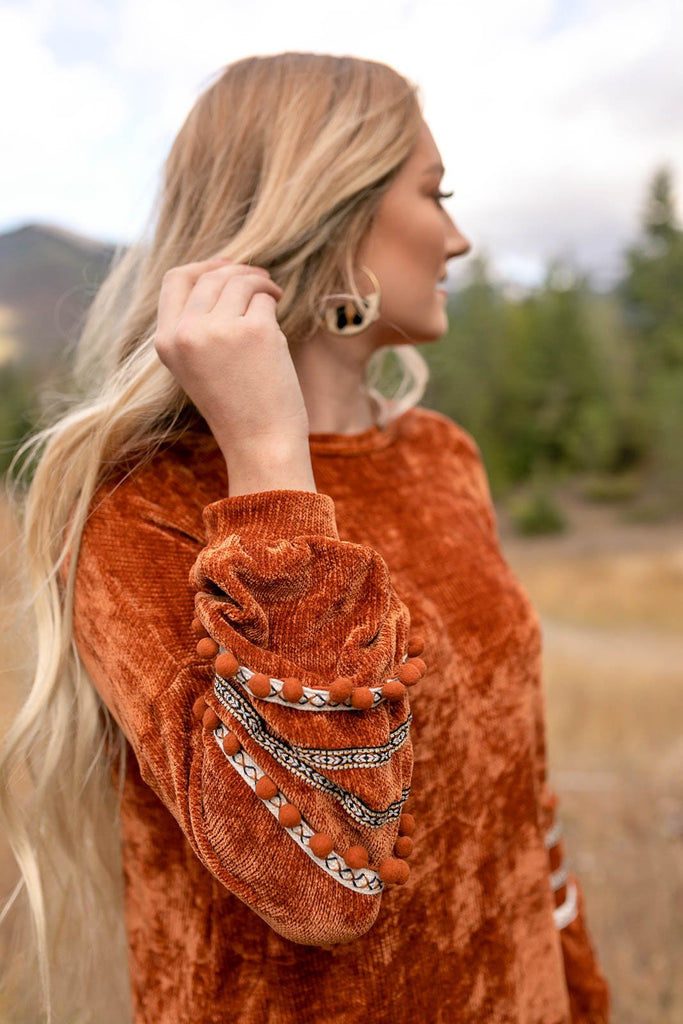 I'll Be Seeing You Sweater In Copper