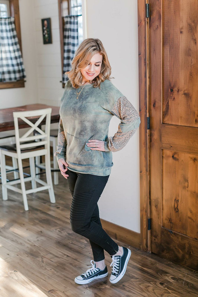 Call Me Interested Top In Olive