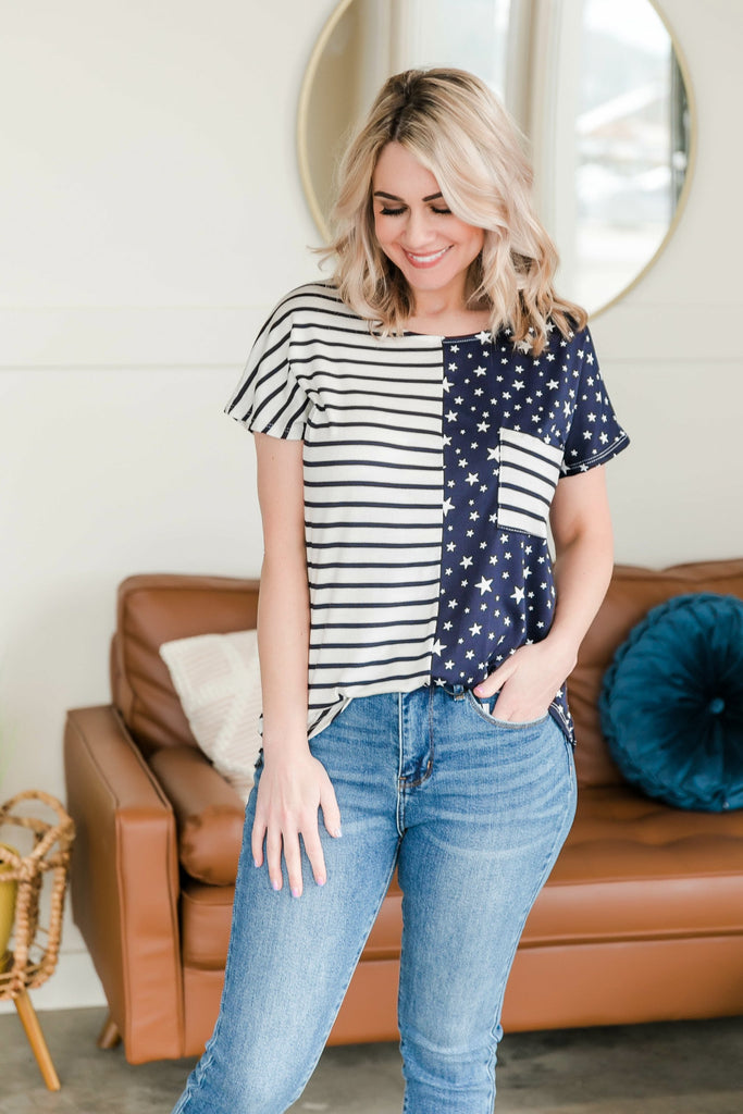 We're All Stars And Stripes Tee
