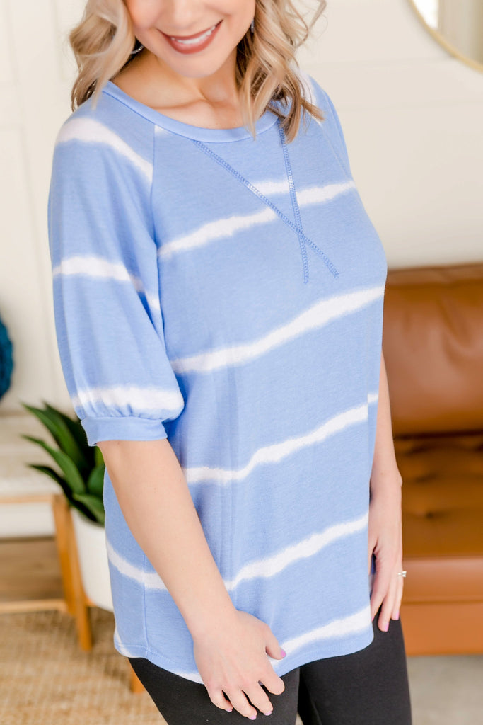 X Marks The Spot Blue Ombre Top