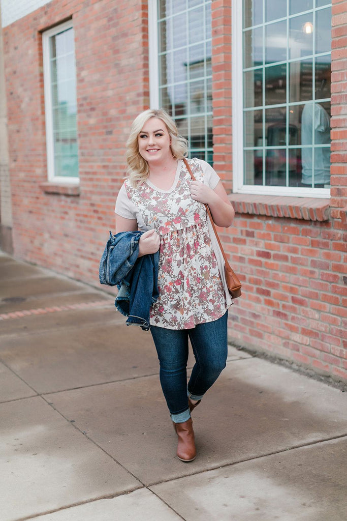 Swingin' By Tunic In Muted Florals