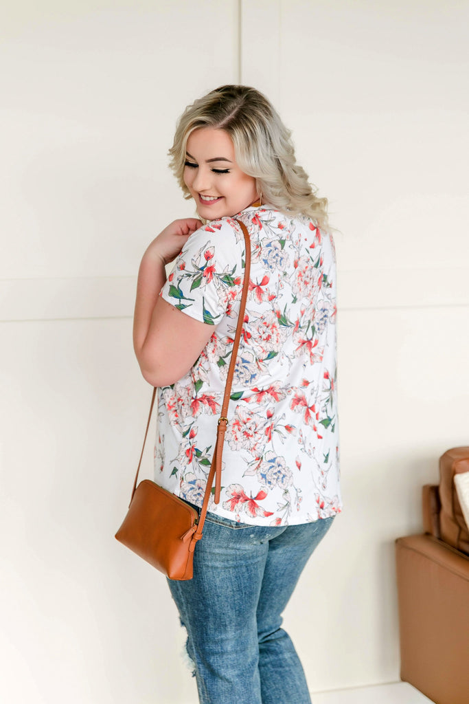 Flower You With Love Top In Ivory Floral