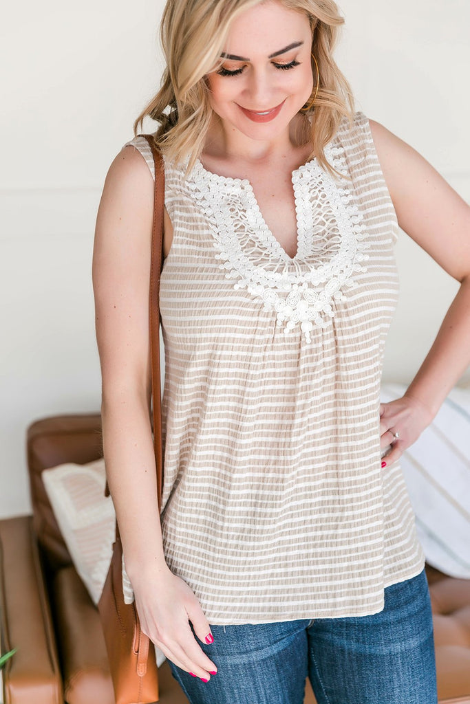 The Details Made Me Do It Lace Sleeveless Top