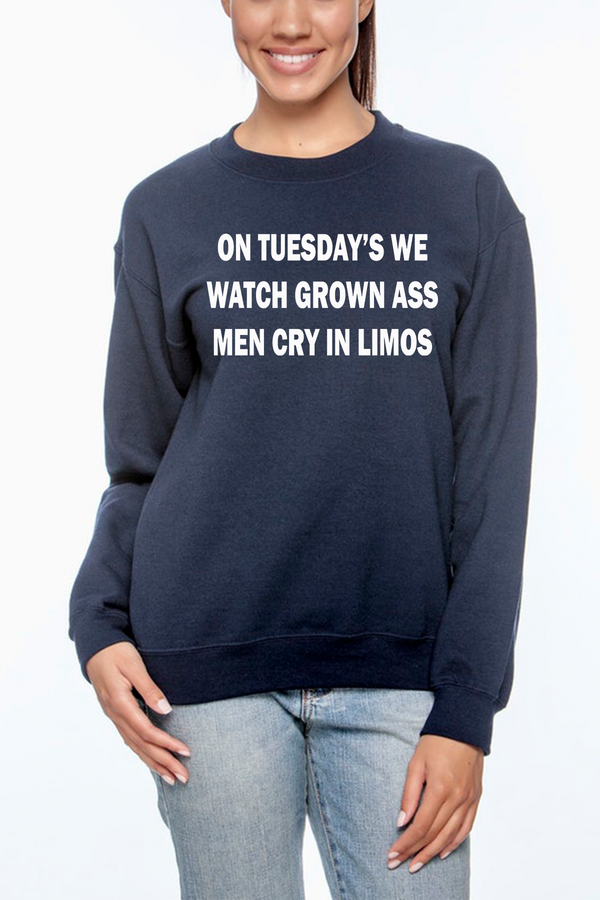 On Tuesday's We Watch Crewneck