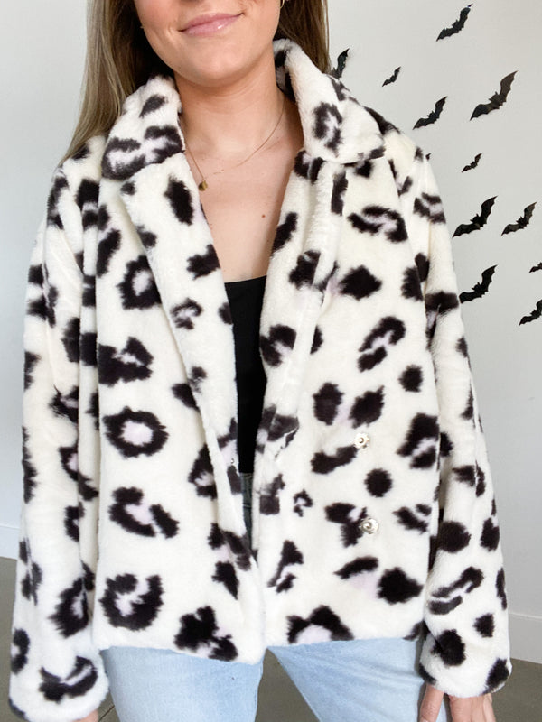 Creamy Dreams Cheetah Coat