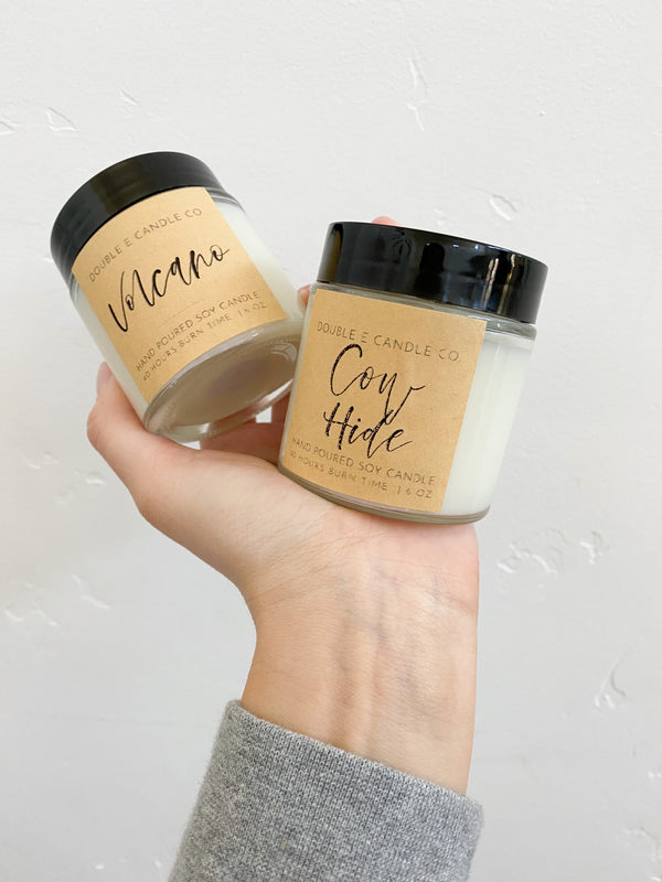Cow Hide Candle