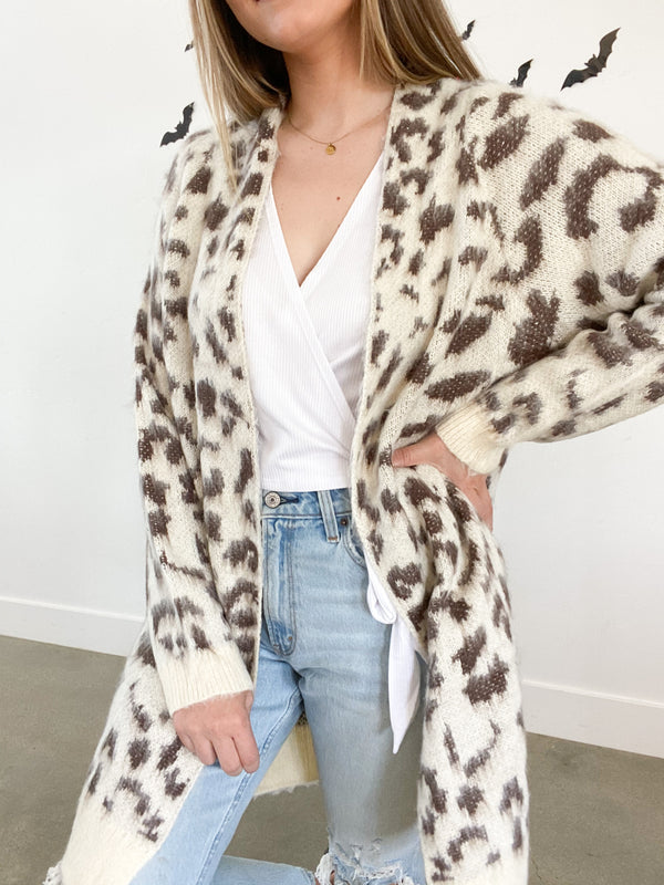 Billy Brown Cheetah Cardigan