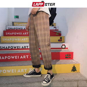 Streetwear Plaid Pants