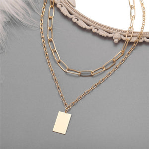 Multi-layer Coin Chain Choker Necklace