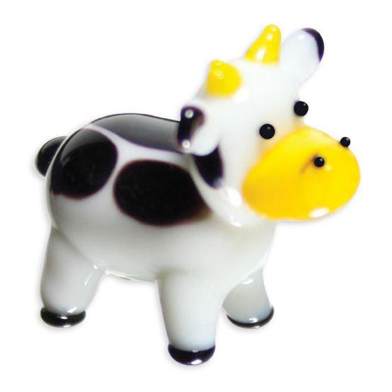 LookingGlass Moomoo The Cow Collectible Glass Miniature Figurine