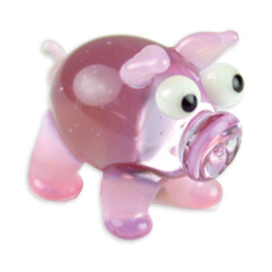 LookingGlass Bacon The Pig Collectible Glass Miniature Figurine