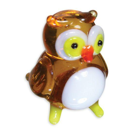 LookingGlass Otto The Owl Collectible Glass Miniature Figurine