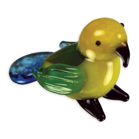 LookingGlass Paris The Parrot Collectible Glass Miniature Figurine