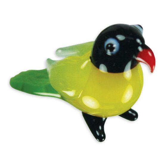 LookingGlass Lindsay The Lovebird Collectible Glass Miniature Figurine