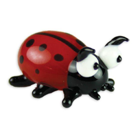 LookingGlass Mika The Ladybug Collectible Glass Miniature Figurine