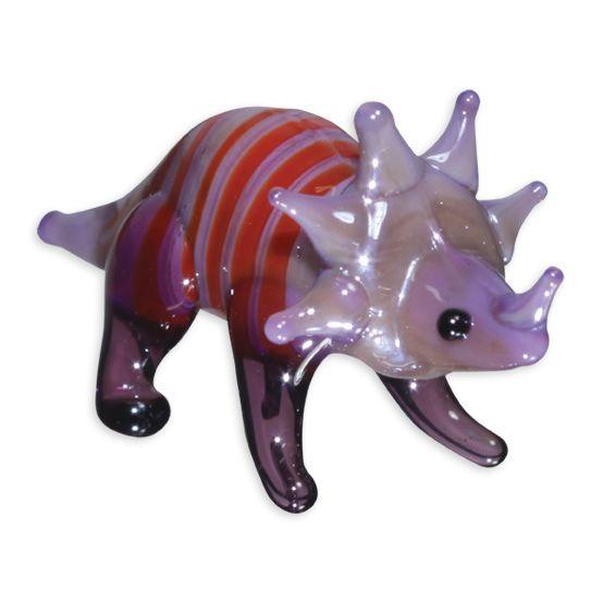 LookingGlass Bigtooth The Triceratops Collectible Glass Miniature Figurine