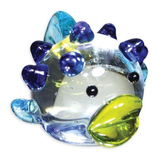 LookingGlass Fugu The Blowfish Collectible Glass Miniature Figurine
