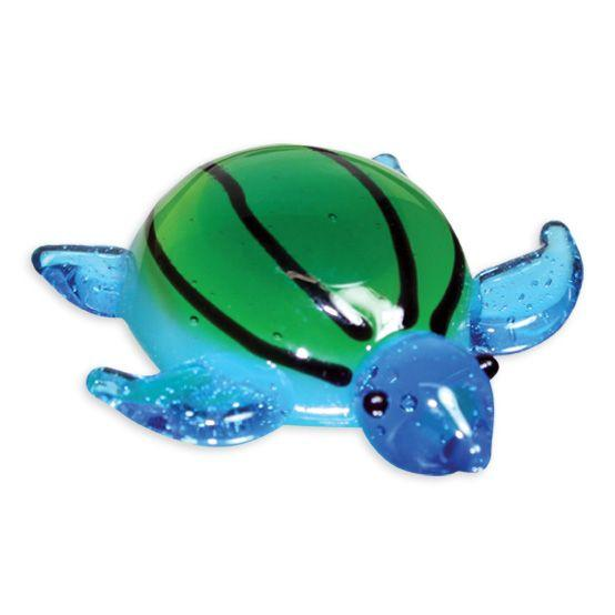 LookingGlass Myrtle The Sea Turtle Collectible Glass Miniature Figurine
